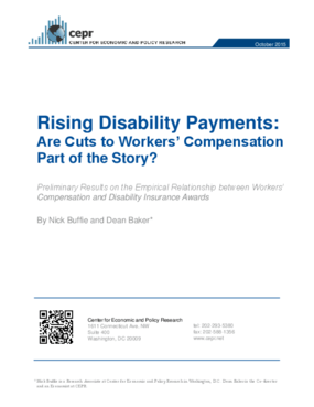 Rising Disability Payments: Are Cuts to Workers' Compensation Part of the Story?